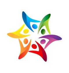 Teamwork united logo vector image vector image