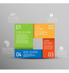 Abstract shape with Infographic elements vector image vector image