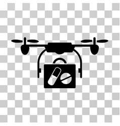 airdrone pharmacy delivery icon vector image