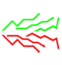 Business indication arrows up down arrows vector
