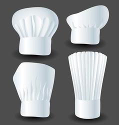 Chef hat set vector image vector image