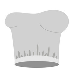 Colorful silhouette with chef hat vector