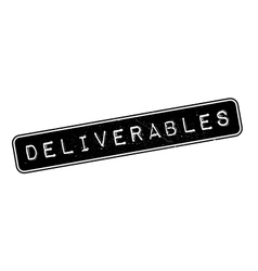 Deliverables rubber stamp vector image vector image