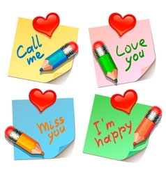 love stickers vector image