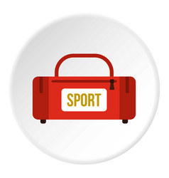red sports bag icon circle vector image vector image