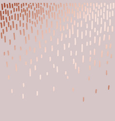 abstract pattern with rose gold imitation vector image