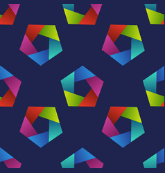 Abstract seamless pattern with colorful pentagons vector