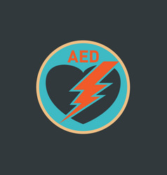 aed automated external defibrillator logo vector image