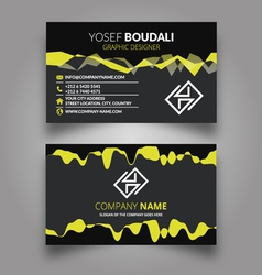 Amazing green wave business card vector