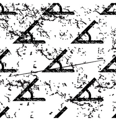 Angle pattern grunge monochrome vector