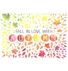 Autumn with motley leaves vector image