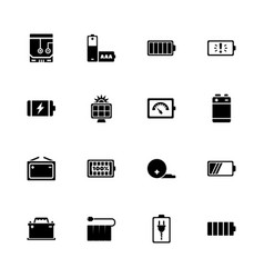 battery - flat icons vector image