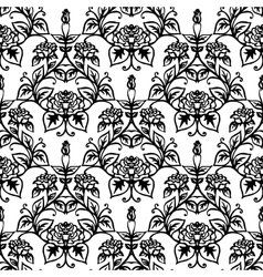 Beautiful seamless with vintage pattern vector