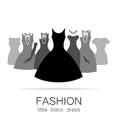 Black dress set vector