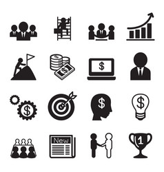 business concept icon set vector image