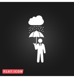 businessman with umbrella protect from rain vector image