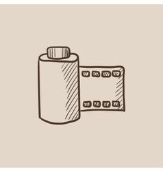 Camera roll sketch icon vector image
