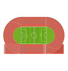Cartoon running track stadium vector