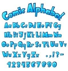 Cartoon stone cracked font vector