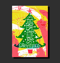 Christmas tree with abstract background vector