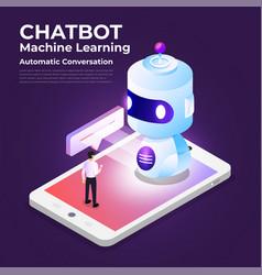 Concept chatbot technology vector