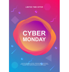 cyber monday sale trendy web banner vector image