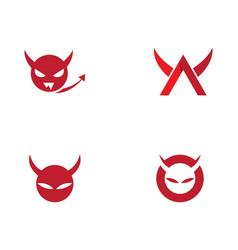Devil horn icon vector