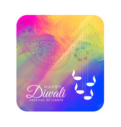 diwali festival greeting card design with vector image