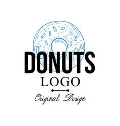 donuts logo original design retro emblem vector image