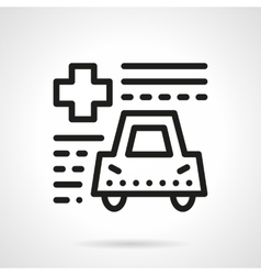 Driver insurance abstract line icon vector