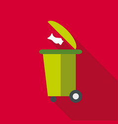 Dumpster icon flat style vector