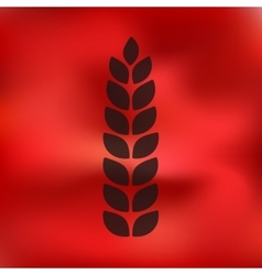 Ears of wheat icon on blurred background vector