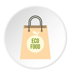 Eco food paper bag icon circle vector