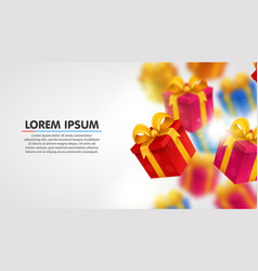 explosion of presents light background with vector image