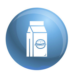 Fast food lunchbox icon simple style vector