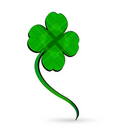 four leaf clover isolated vector image