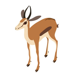 gazelle icon isometric style vector image