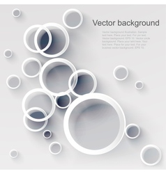 Geometric applique circle background vector