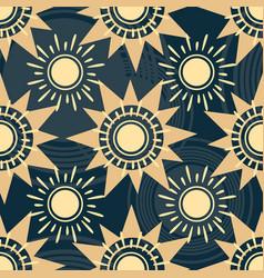Geometric sun pattern vector