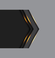 gold light arrow direction on grey and black vector image