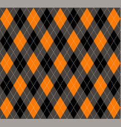Halloween argyle plaid scottish cage background vector
