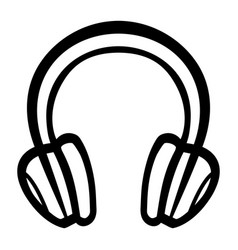 Headphones music accessory icon vector