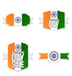 India Independence Day Banners Set vector image