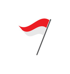 Indonesian flag vector