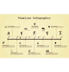 Infographic timeline elements with icons vector image