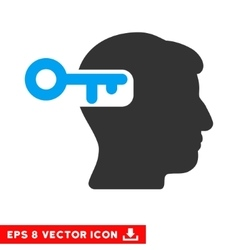 Intellect Key Eps Icon vector