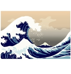 Large frothy waves sea vector
