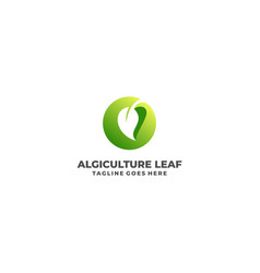 leaf template vector image
