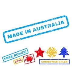 Made In Australia Rubber Stamp vector
