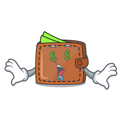 money eye wallet mascot cartoon style vector image